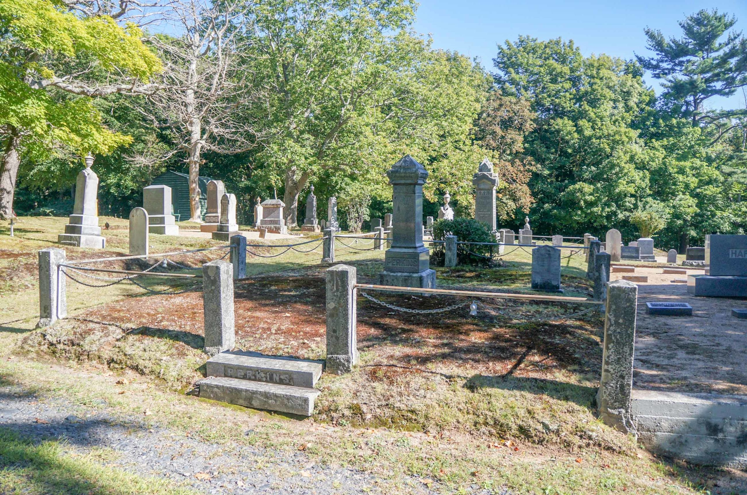 Perkins Family Plot in Woodland Cemetery, Annapolis
