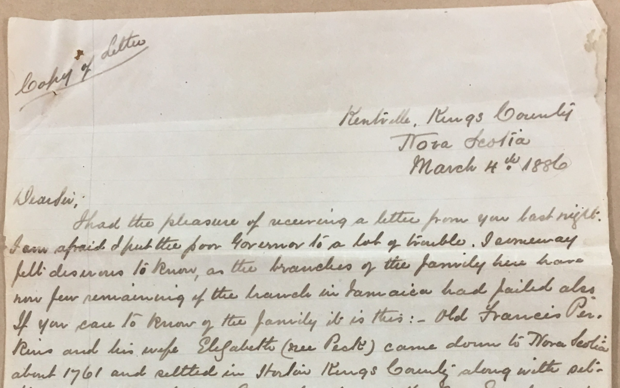 1886 Edmund Cogswell Letter