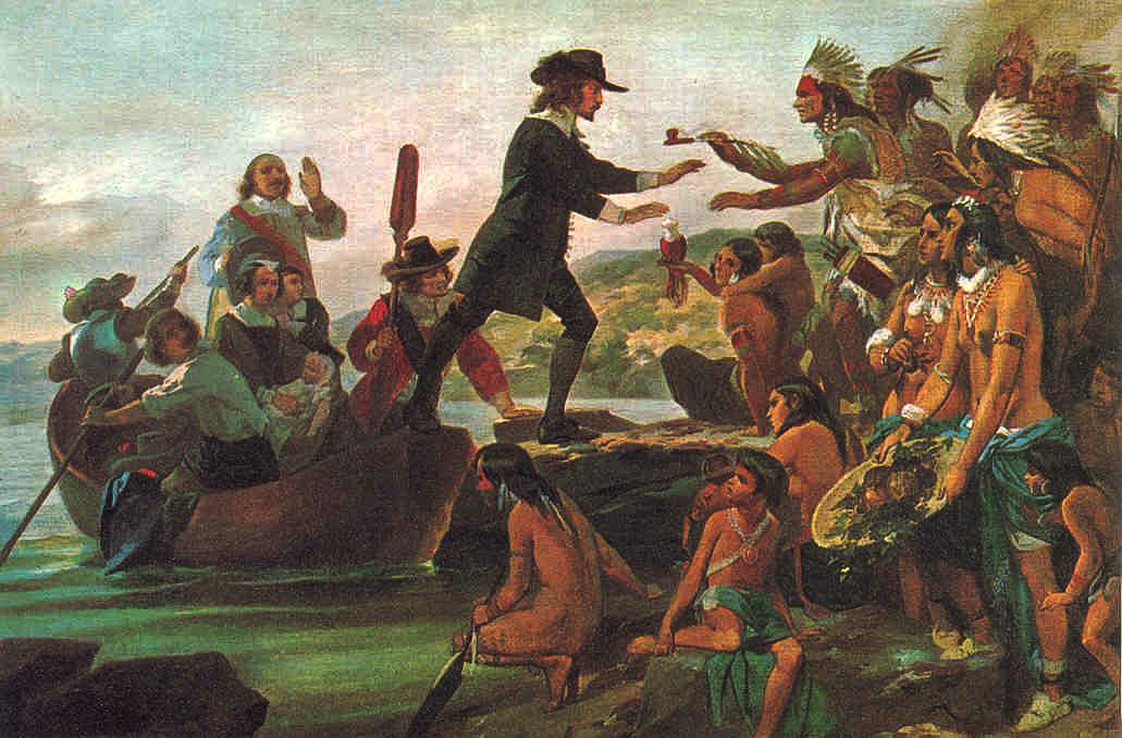 The Landing of Roger Williams in 1636