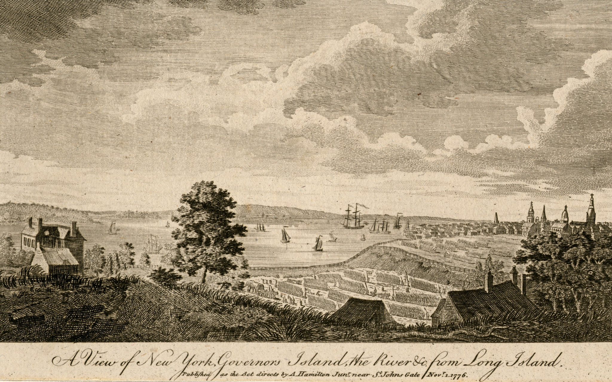 A view of New York, Governors Island, the river &c. from Long Is