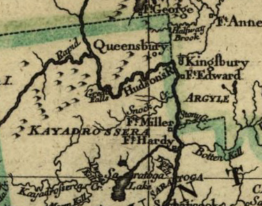 Close Up detail of 1777 Map by C Sauthier