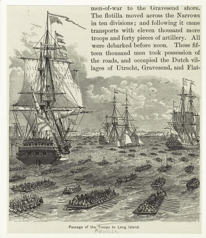 Invasion of British Troops to Long Island