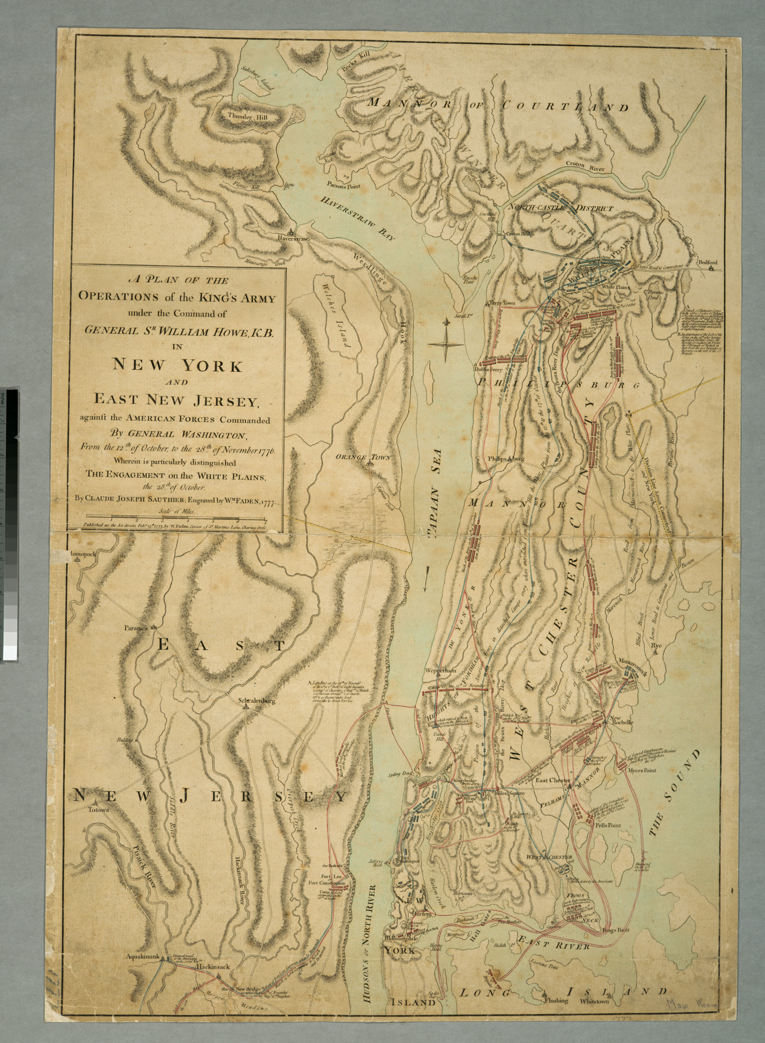 Battle of White Plains by William Faden in 1777
