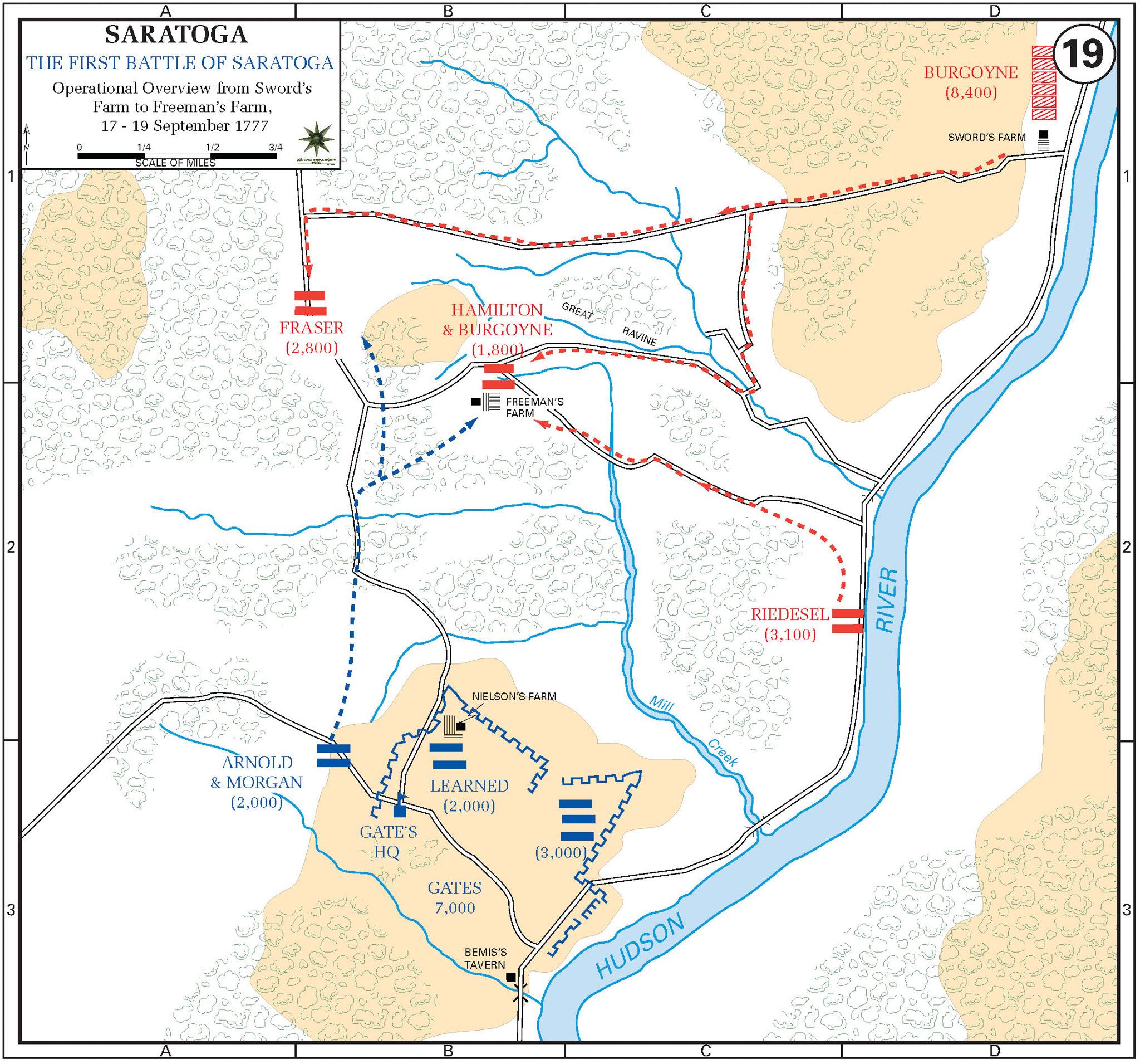 Map of 1st Battle of Saratoga
