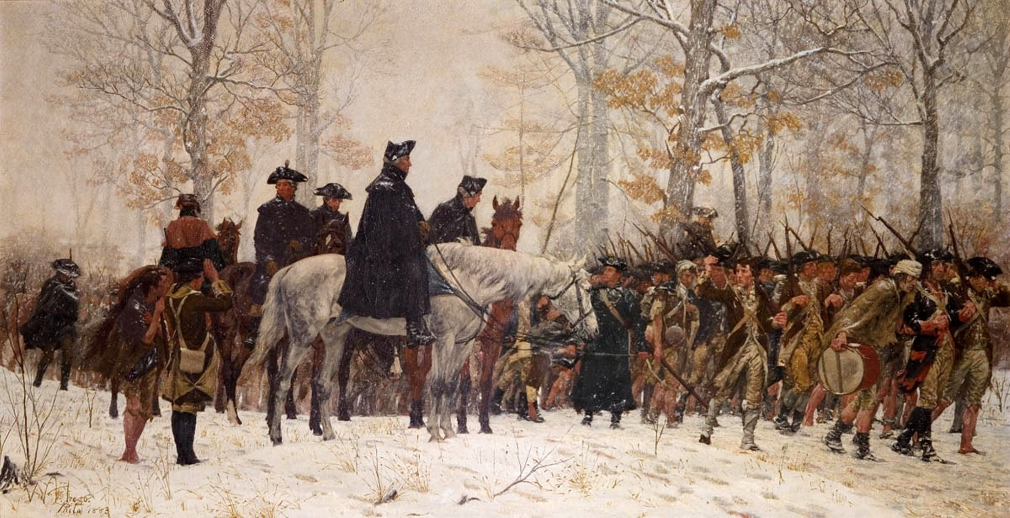 March to Valley Forge by Trego
