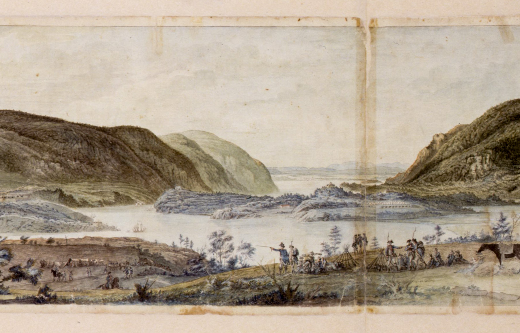 Panoramic View of West Point by L'Enfant 1778