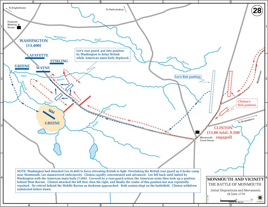 Battle of Monmouth Map