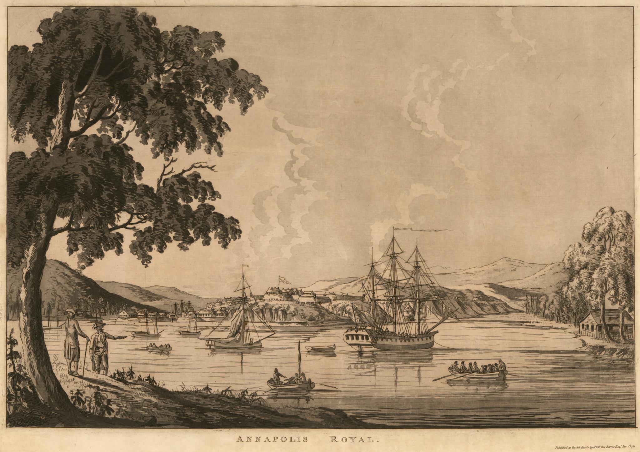 1779 Annapolis Royal by JFW DesBarress