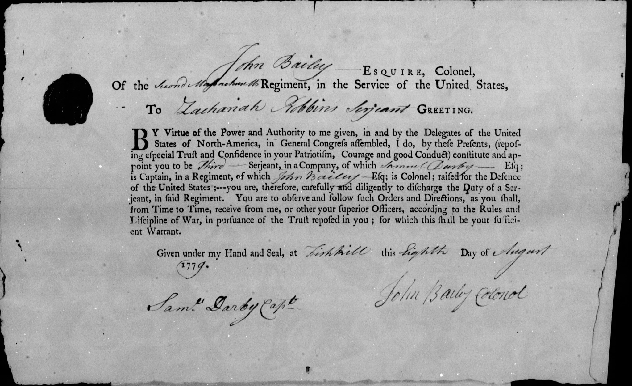 Discharge Paper for Zachariah Robbins