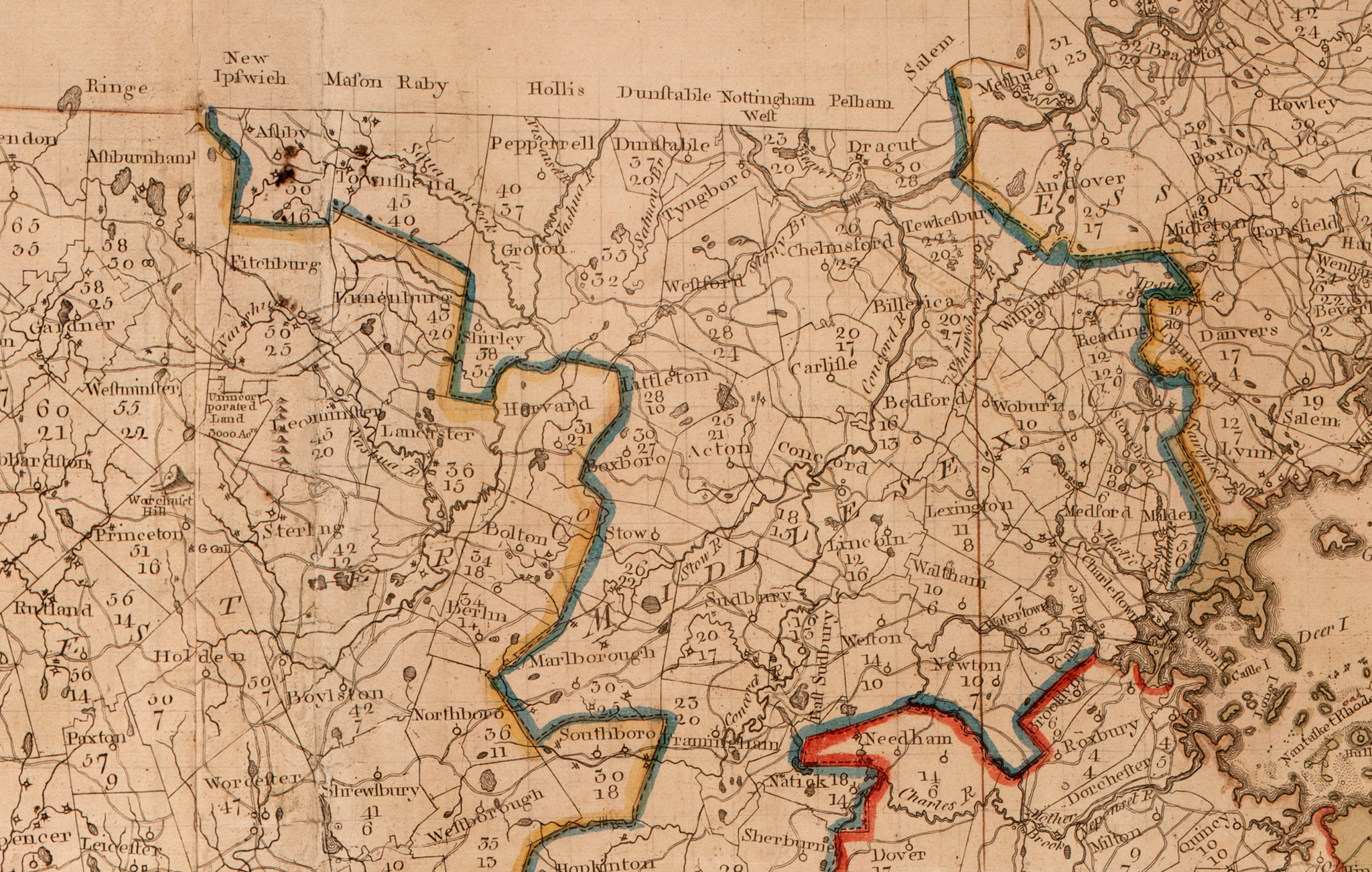 Map of Littleton and Surroundings in 1795