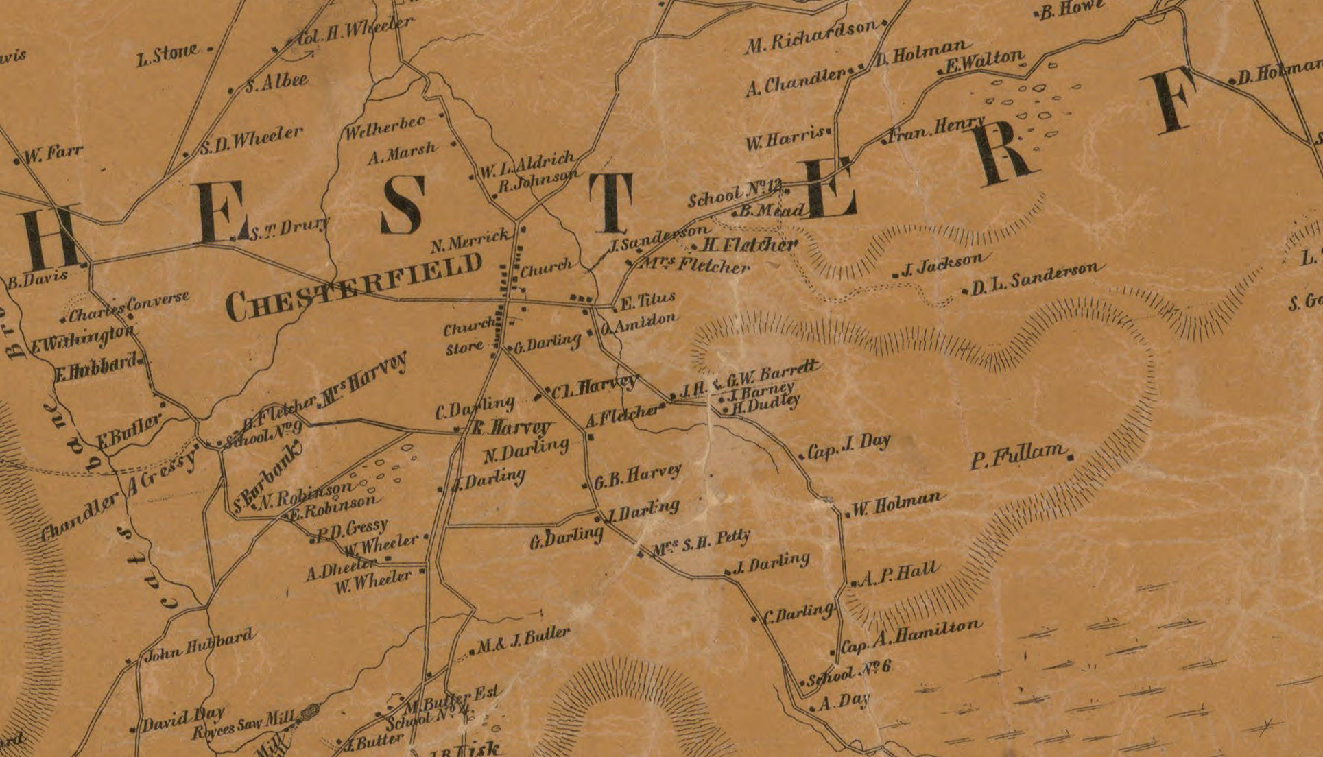 Rural Chesterfield Map