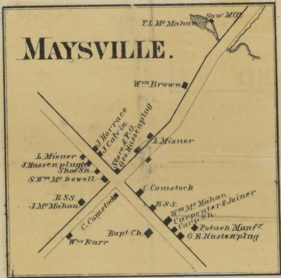 Detailed map of Maysville in 1860