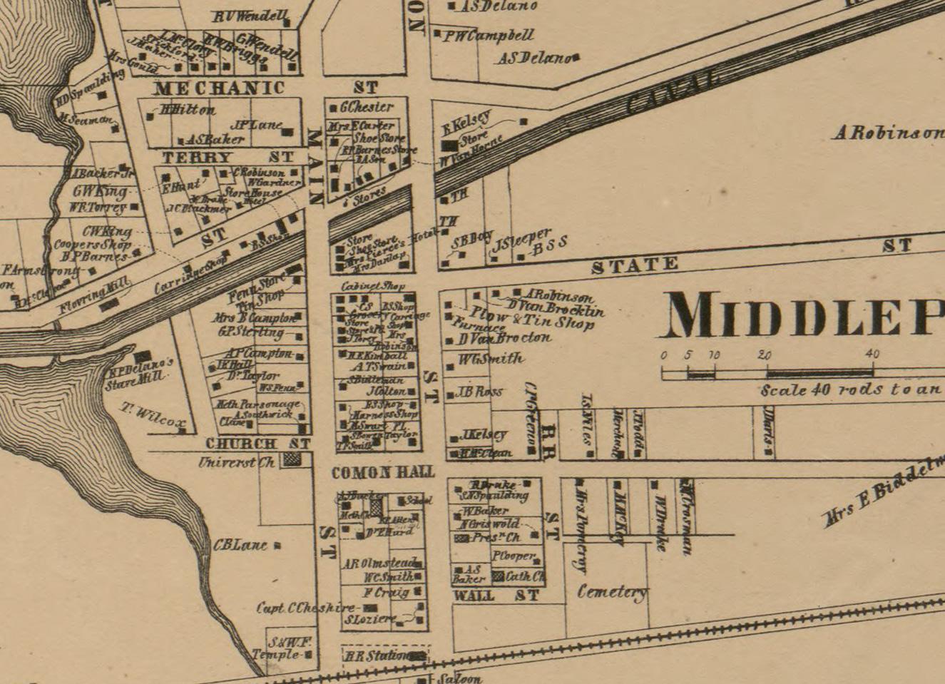1860 Middleport NY Map