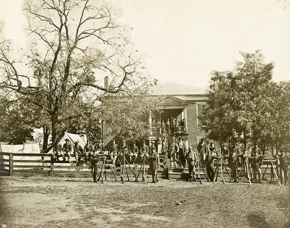 Federal Troops in front of Appomattox