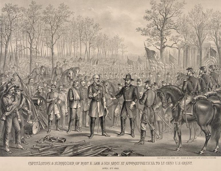 Surrender of Robert E Lee at Appomattox