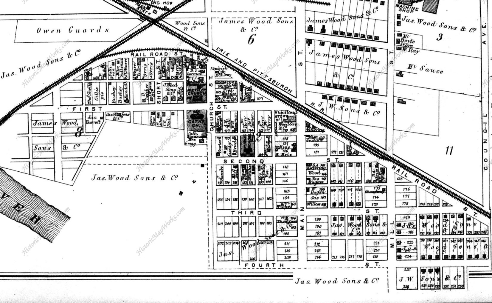 Wheatland PA Close-up in 1873
