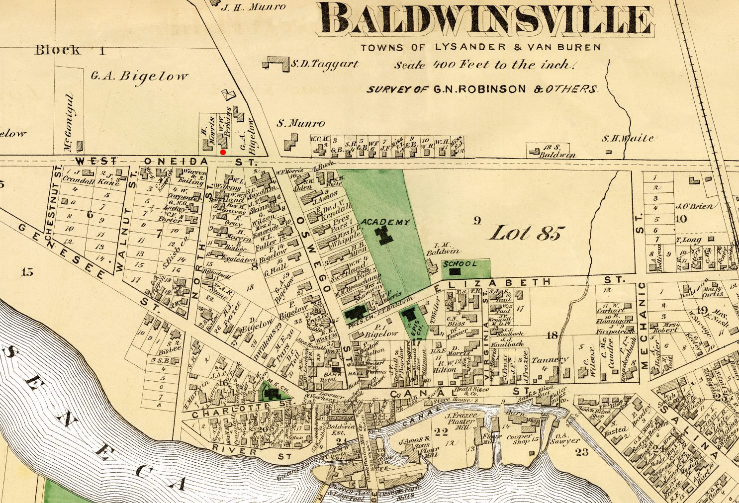 1875 Baldwinsville NY Map
