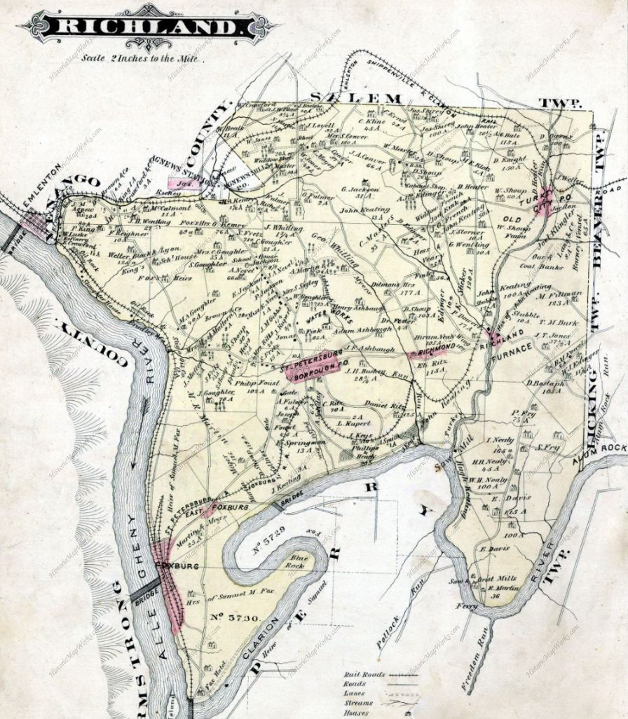 Richland Township in 1877