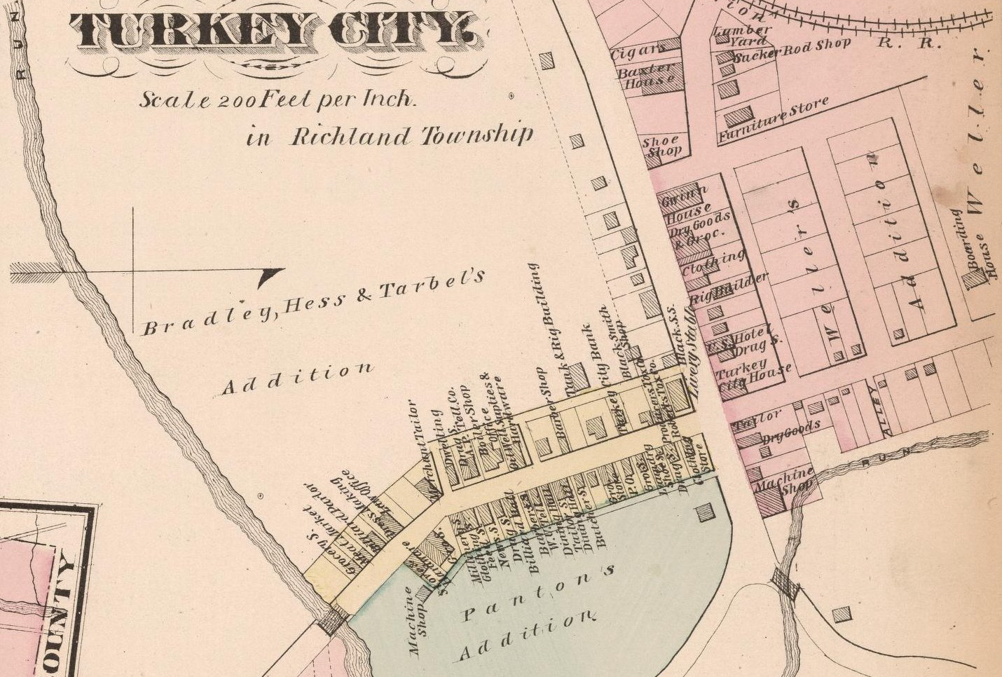 Closeup view of Turkey City in 1877