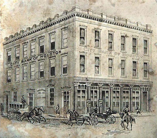 City Bank of Houston in 1882