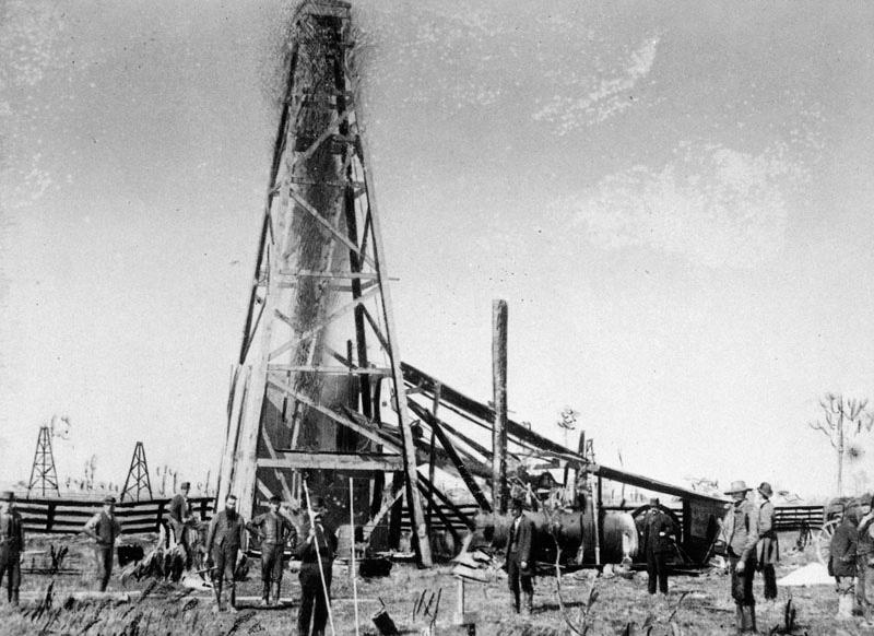 1886 Oil Well being torpedoed