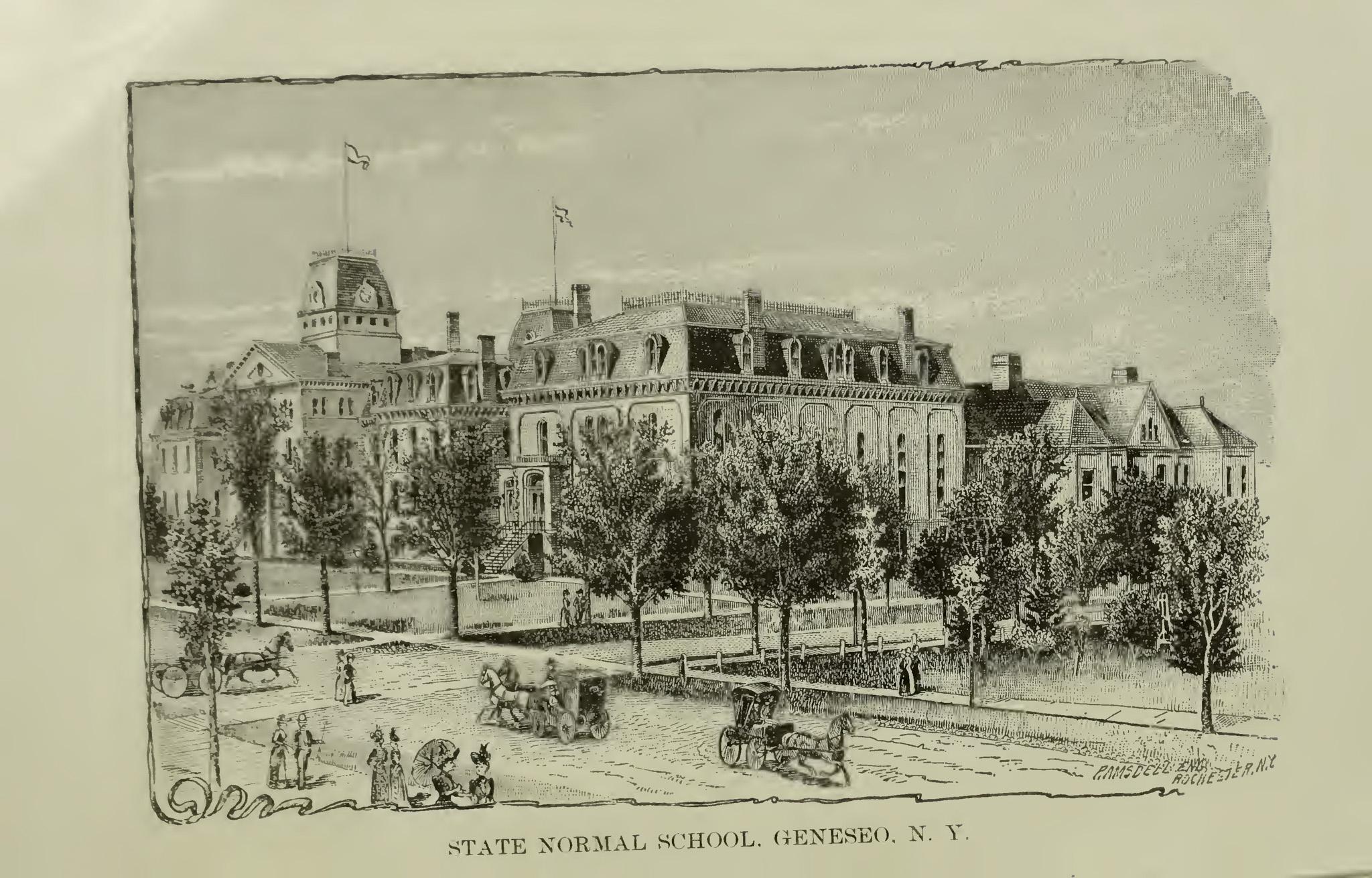 Geneseo State Normal School in 1893