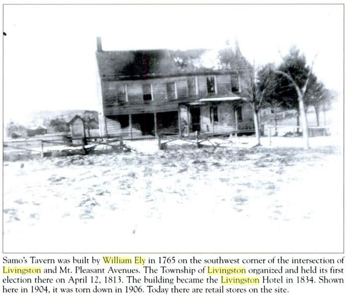Samo's Tavern built by William Ely Jr in 1765