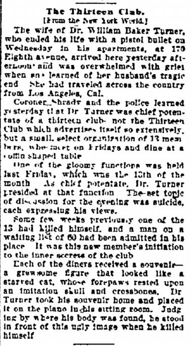 William B Turner Newspaper Death Notice ''