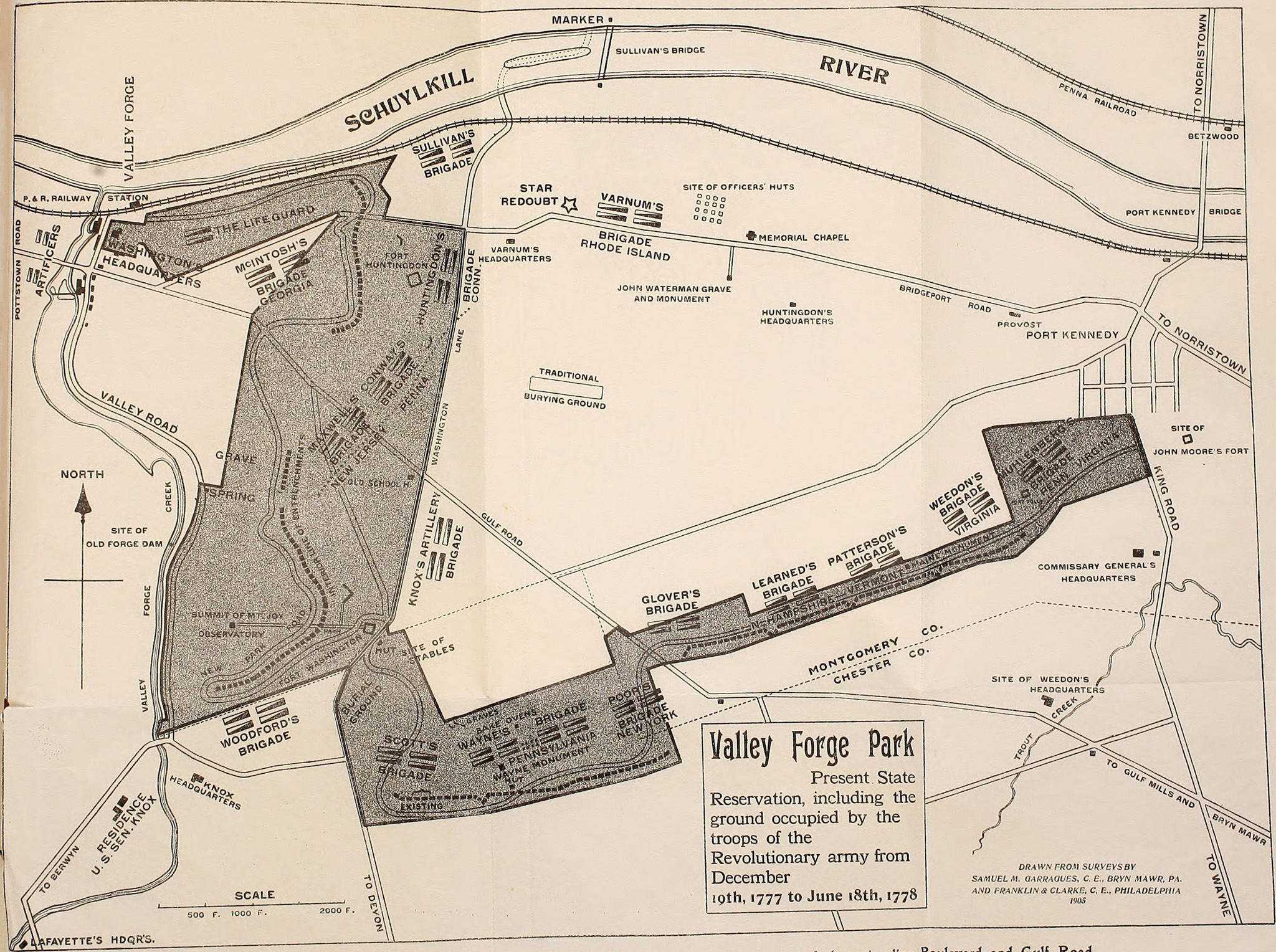 Valley Forge Encampment Map