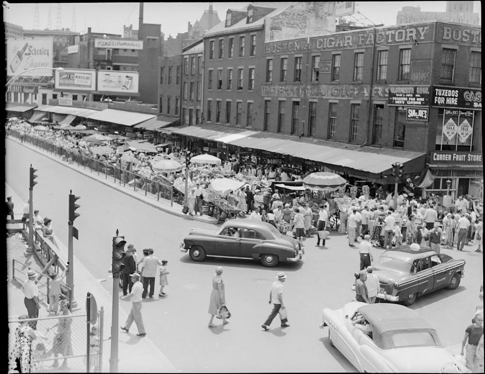 Blackstone Street in 1956