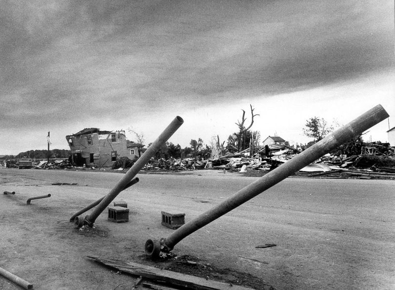 Wheatland on 31 May 1985 after F5 Tornado