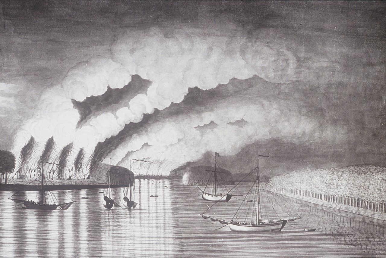 A View of the Plundering and Burning of the City of Grymross by
