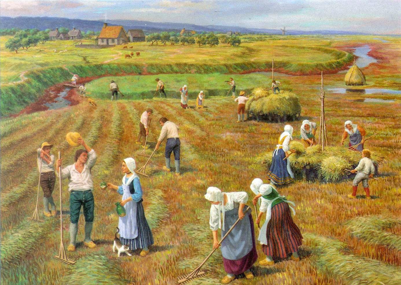 Acadian Farm in Nova Scotia by Claude Picard