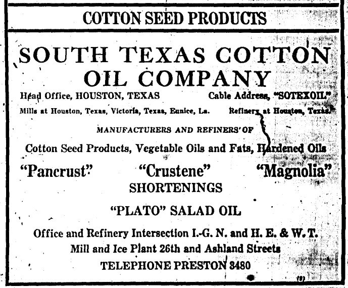 Ad in 1925 Houston Directory