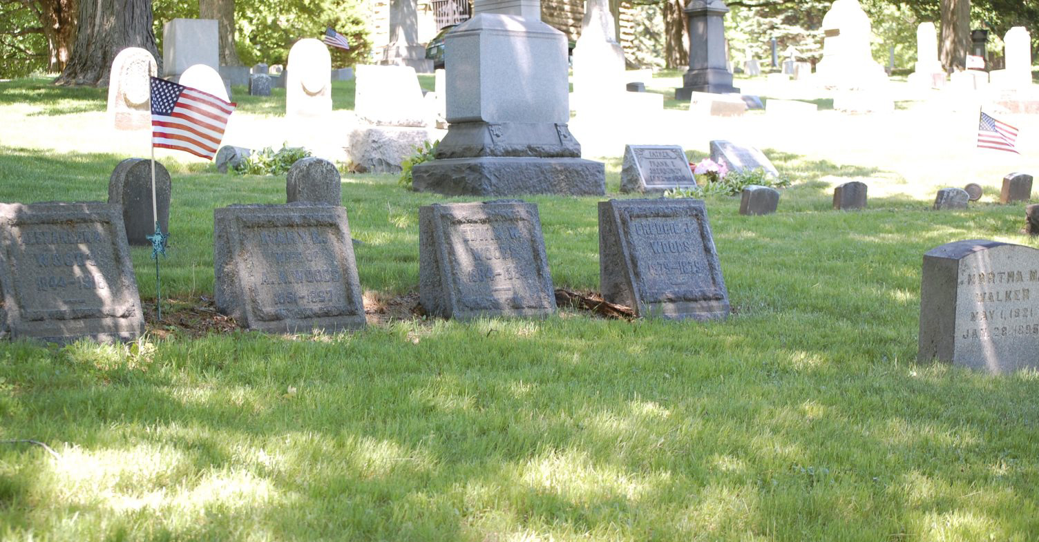 Woods Family Grave Site at Shenango Cemetery