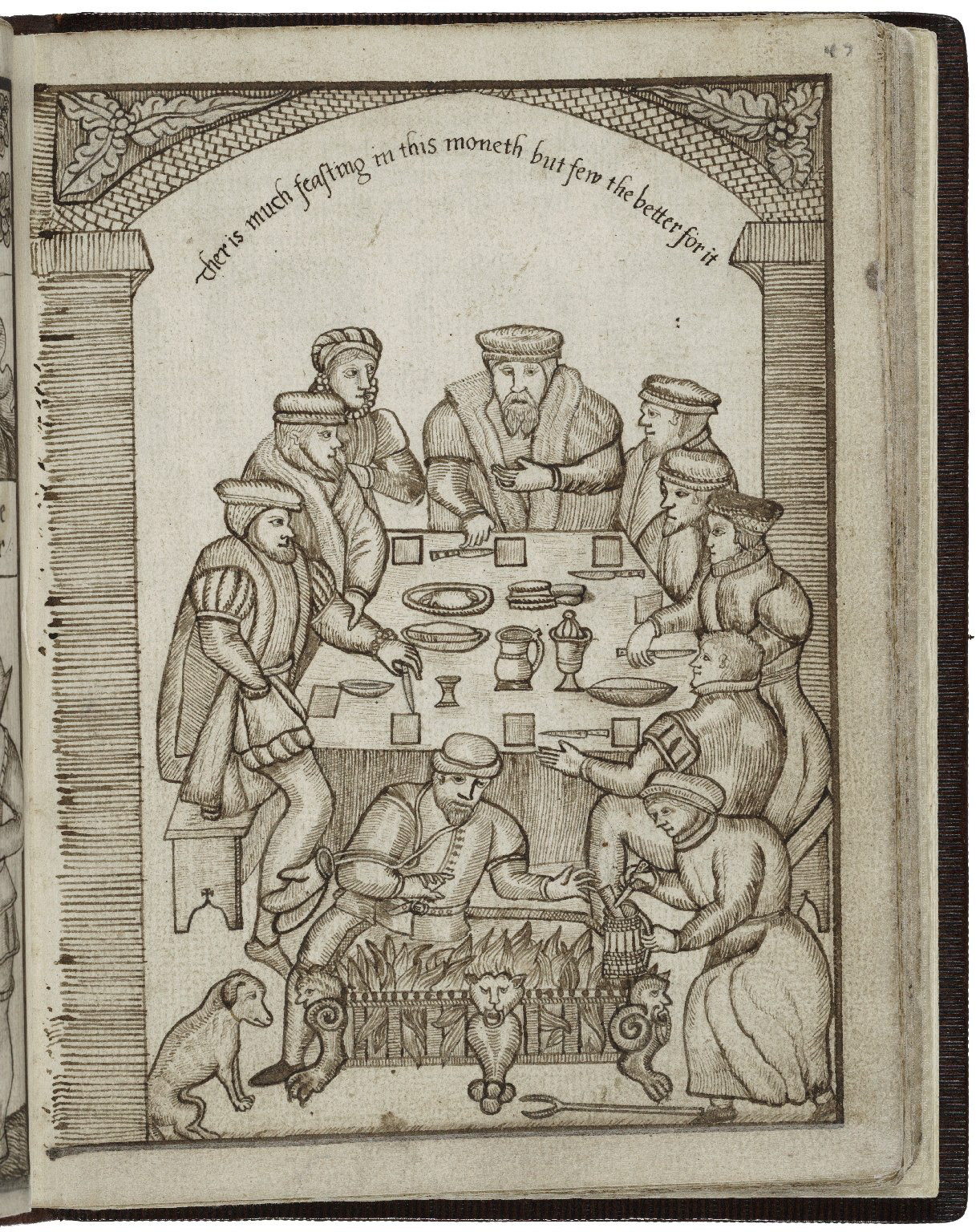 The Gentry in January - feasting at the table