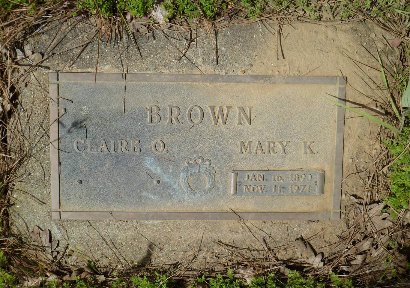 Claire & Mary Brown Gravestone