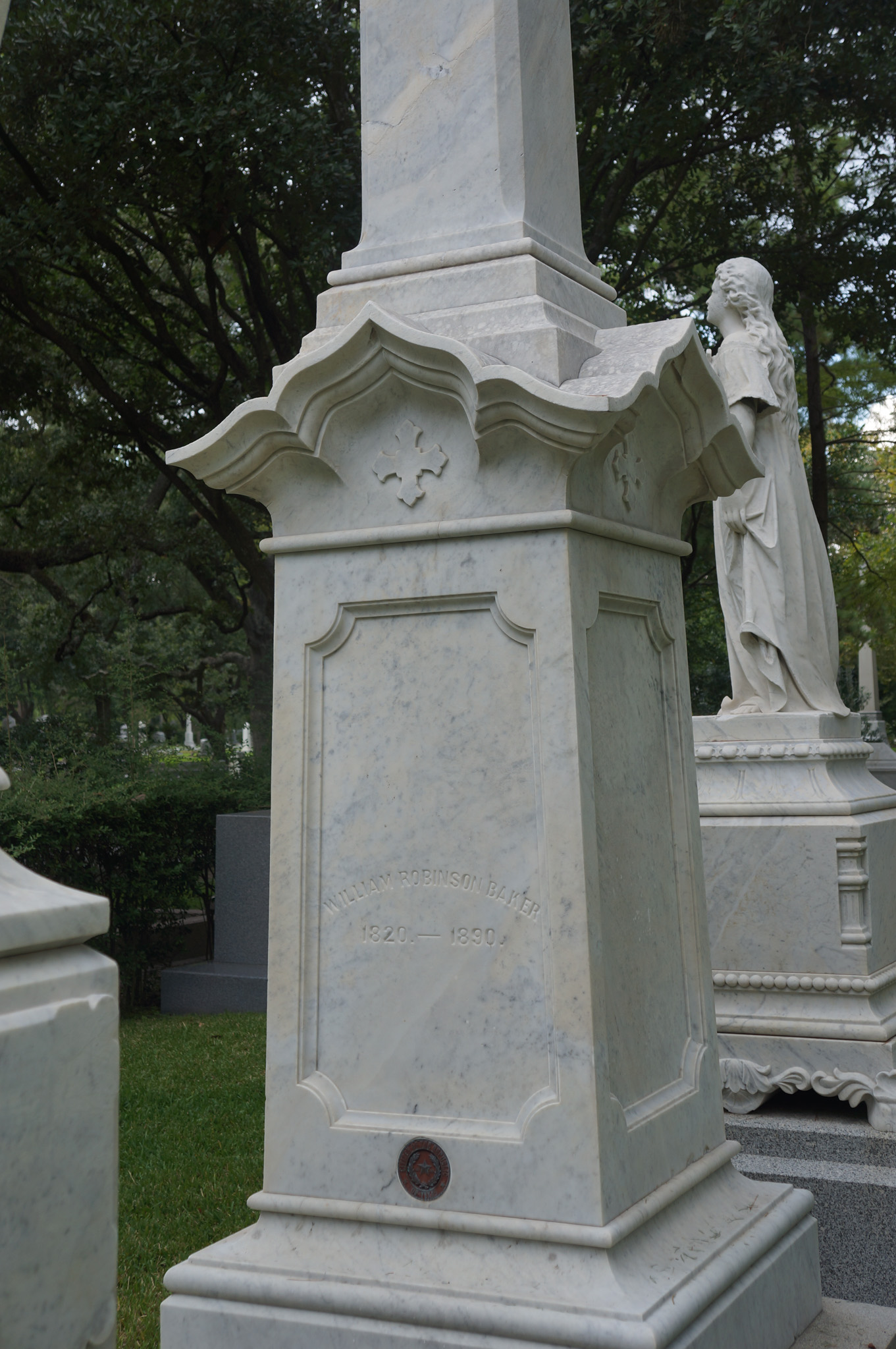 Inscription for William R Baker on Family monument