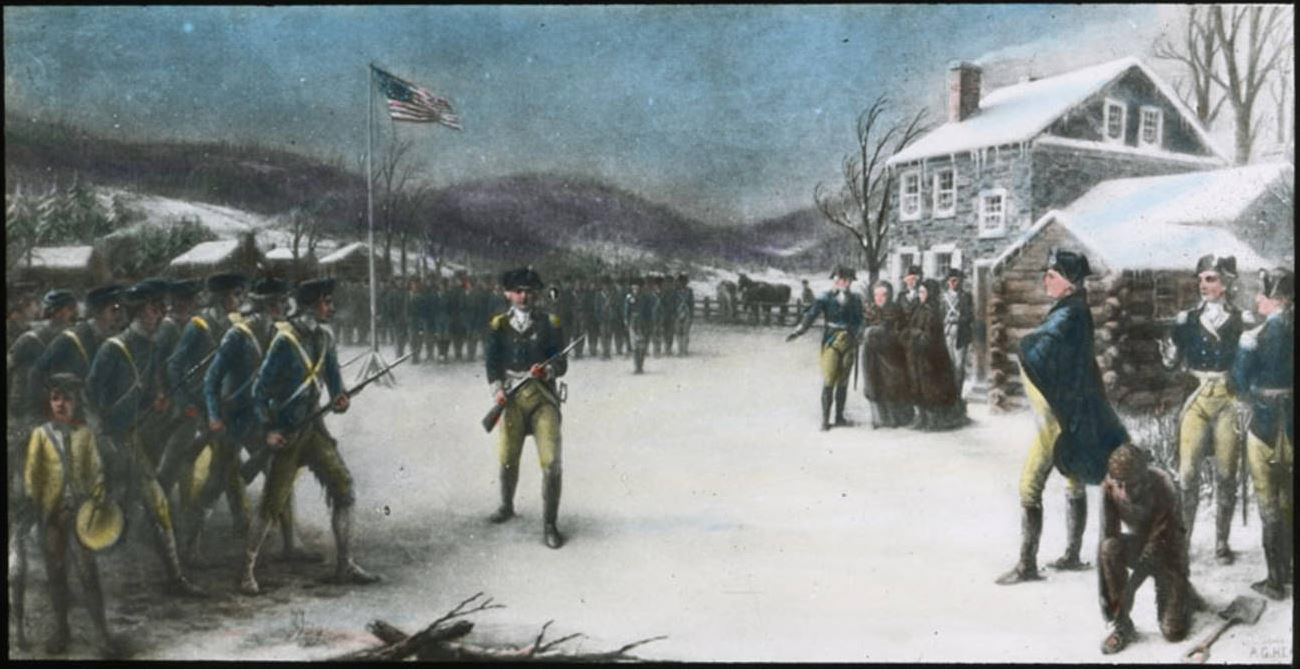 Drilling Troops at Valley Forge