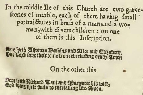 Thomas & Alice Perkins Gravestone Reference