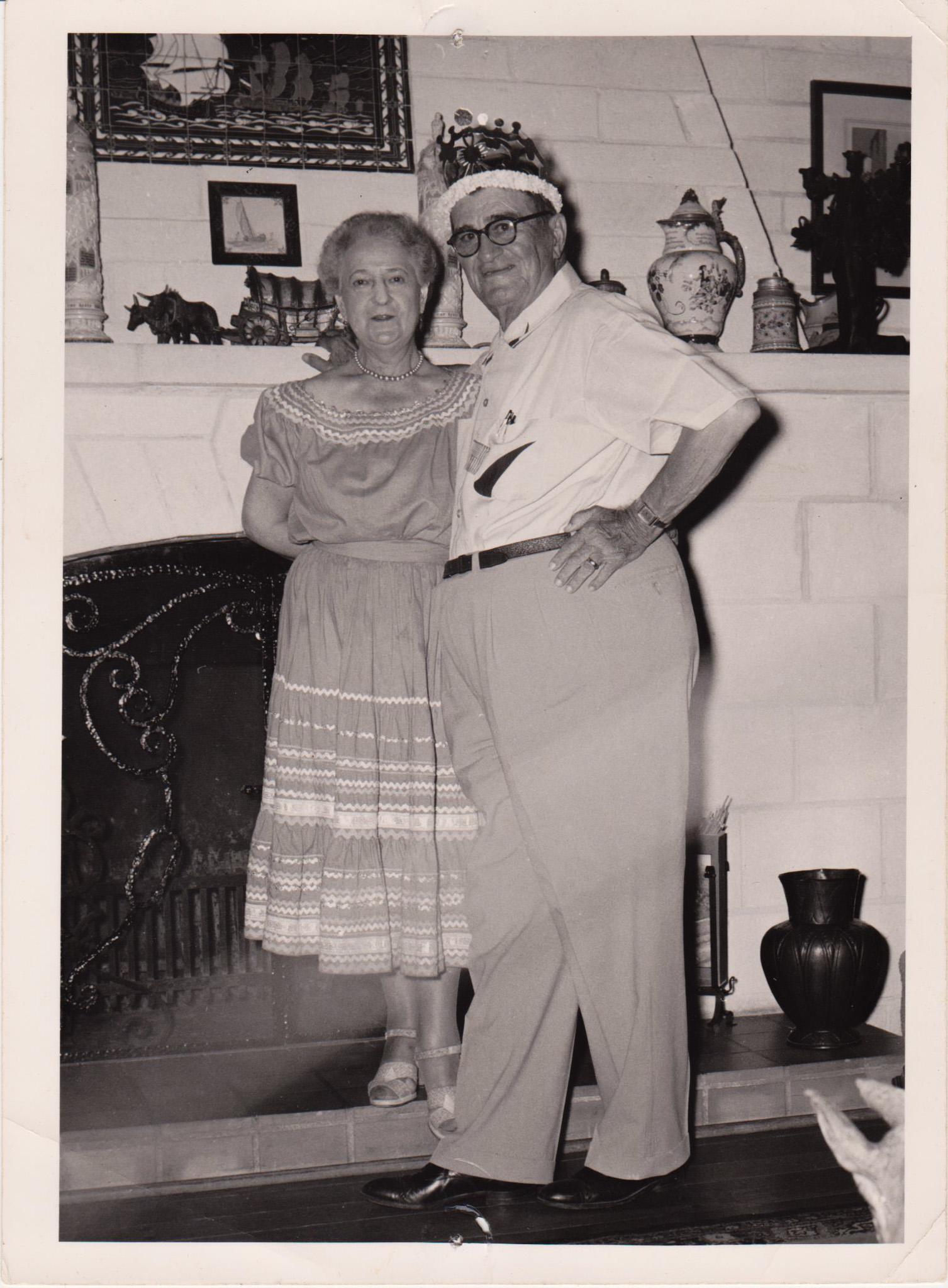Ernest and Olive Nicklos at Rancho Amigo