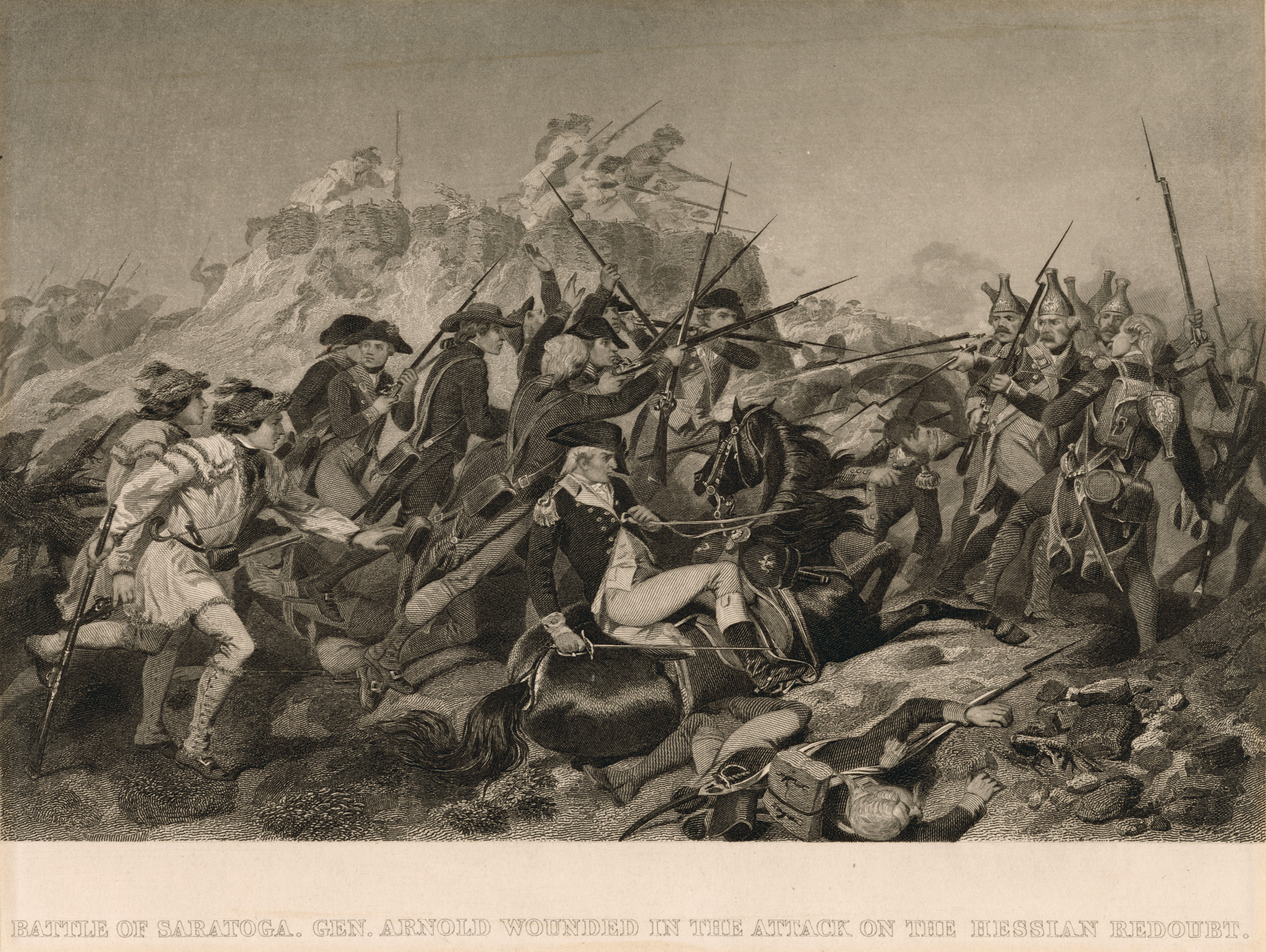 General Arnold wounded in Battle of Saratoga