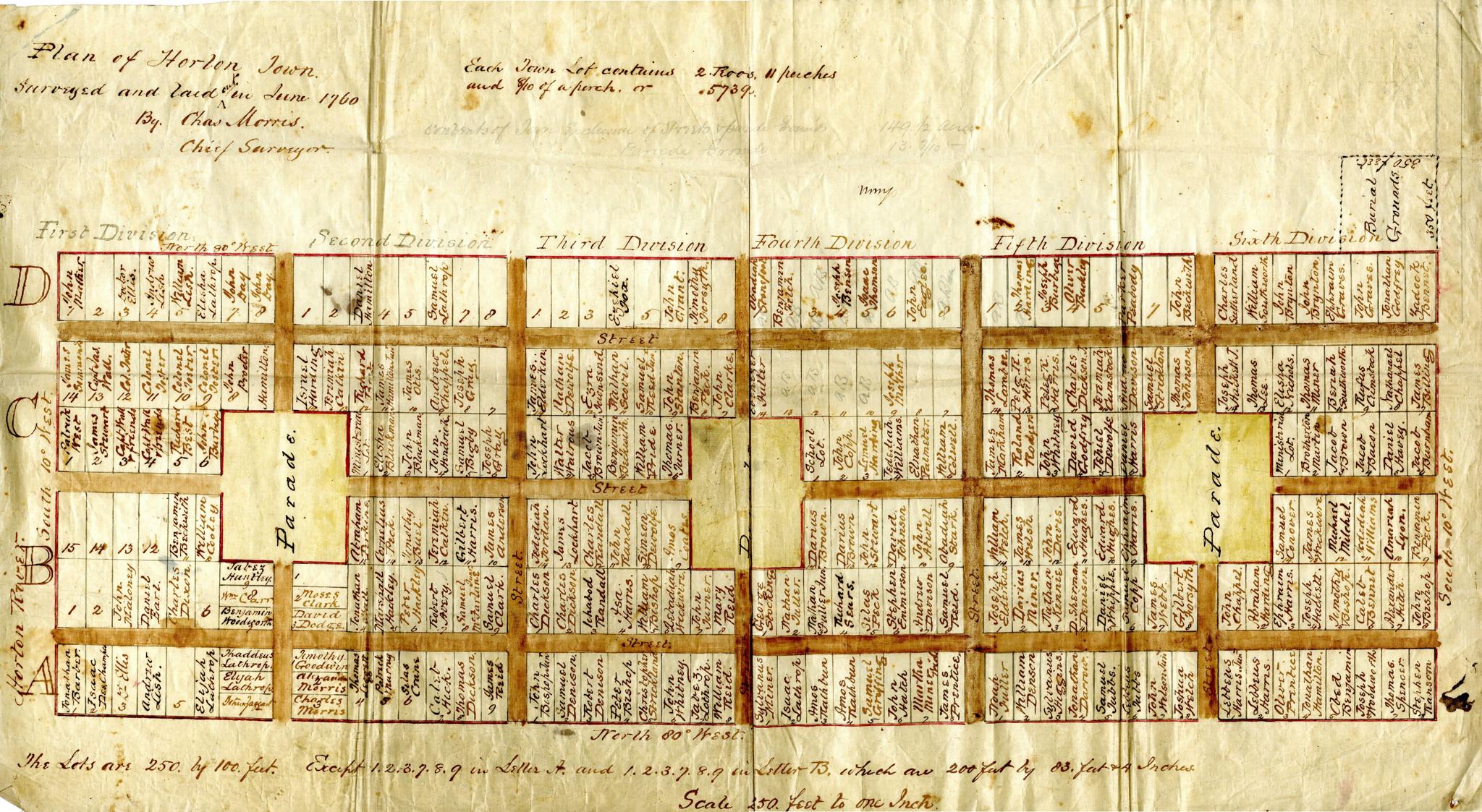 Horton Town Plot Plan of 1760