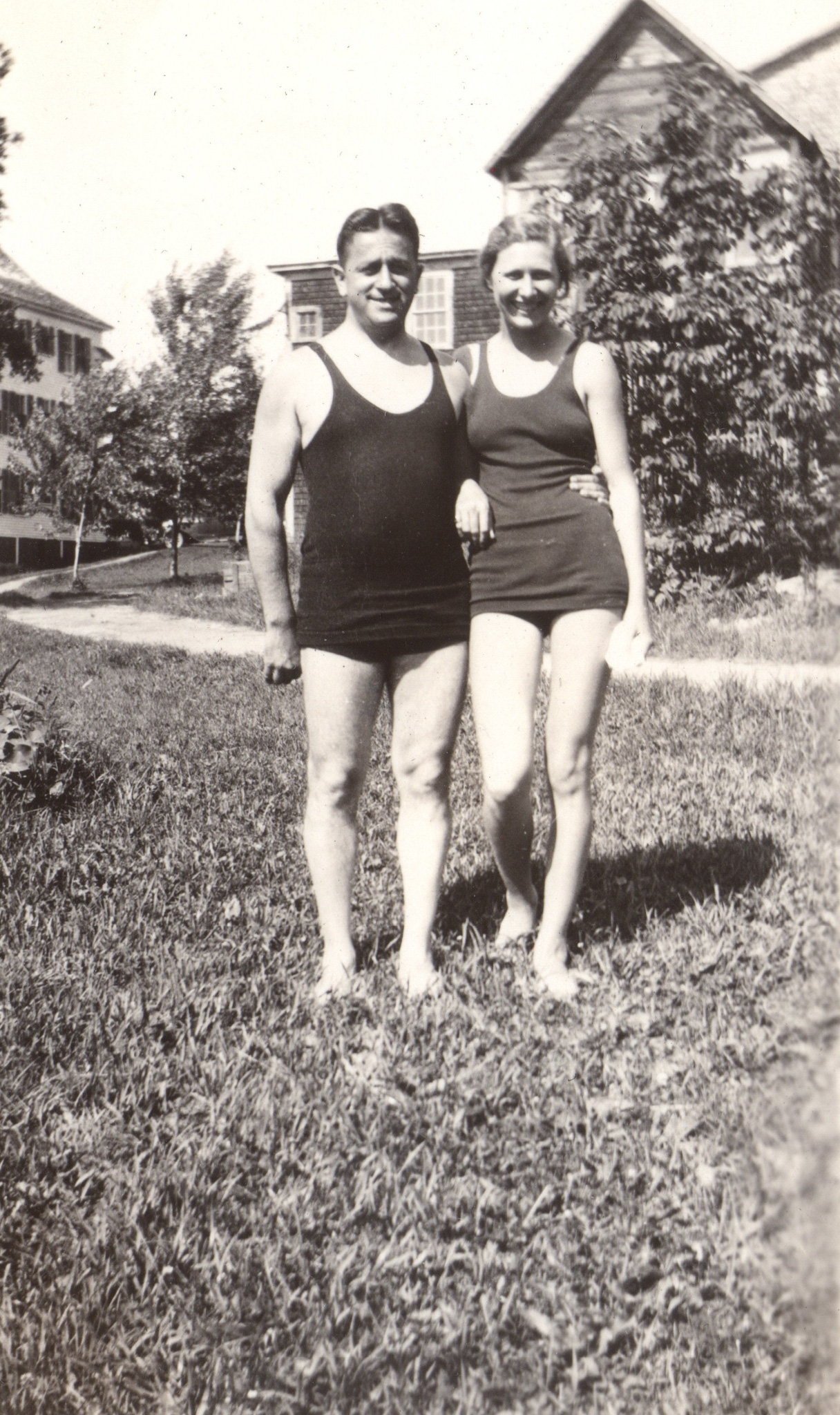 Harry and Mary in swimsuits