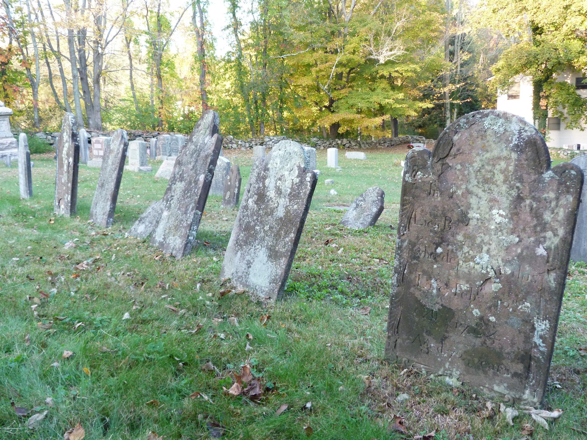 Elias Peck family Gravestones at Wesley Brown Cemetery