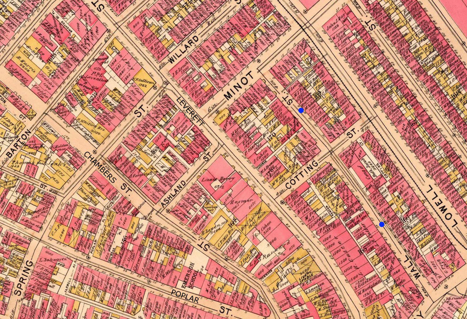 Schwartz Residences on 1895 Boston Bromley Atlas