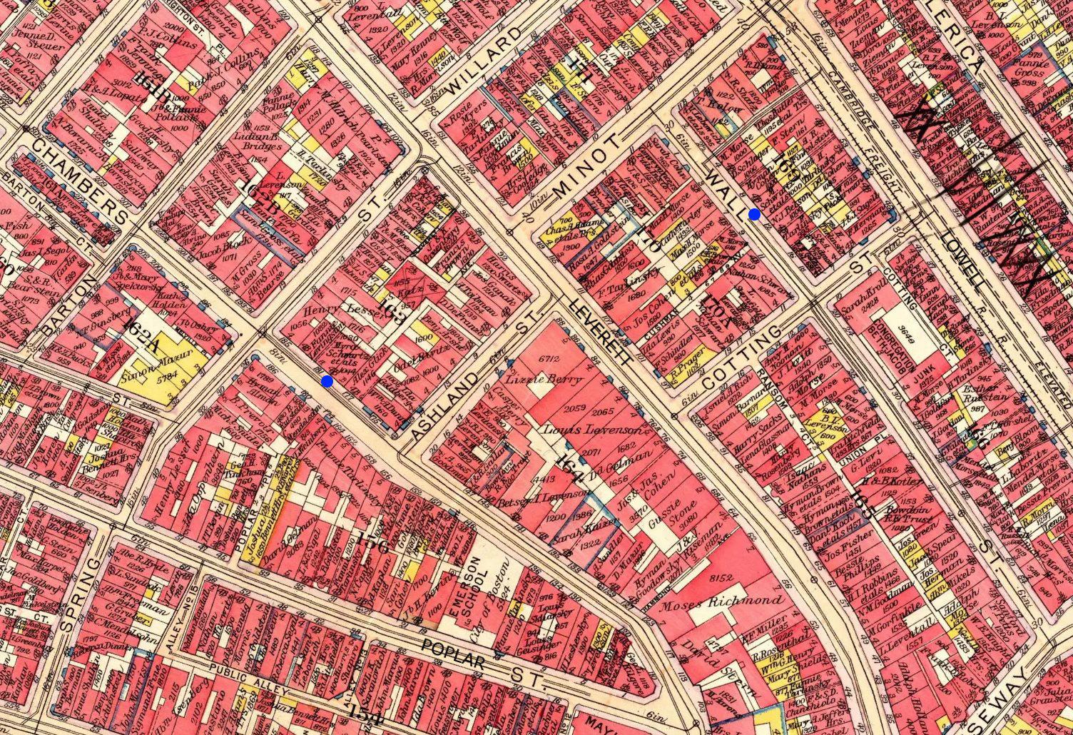 Schwartz Residences on 1917 Boston Bromley Atlas