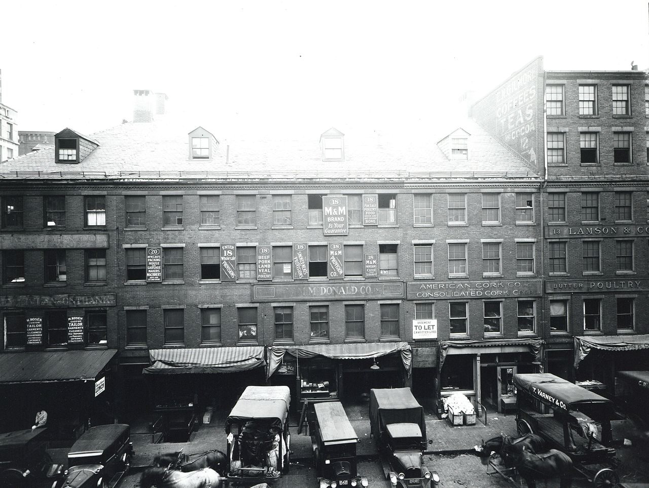 Steet in Boston near Blackstone Street, circa 1920