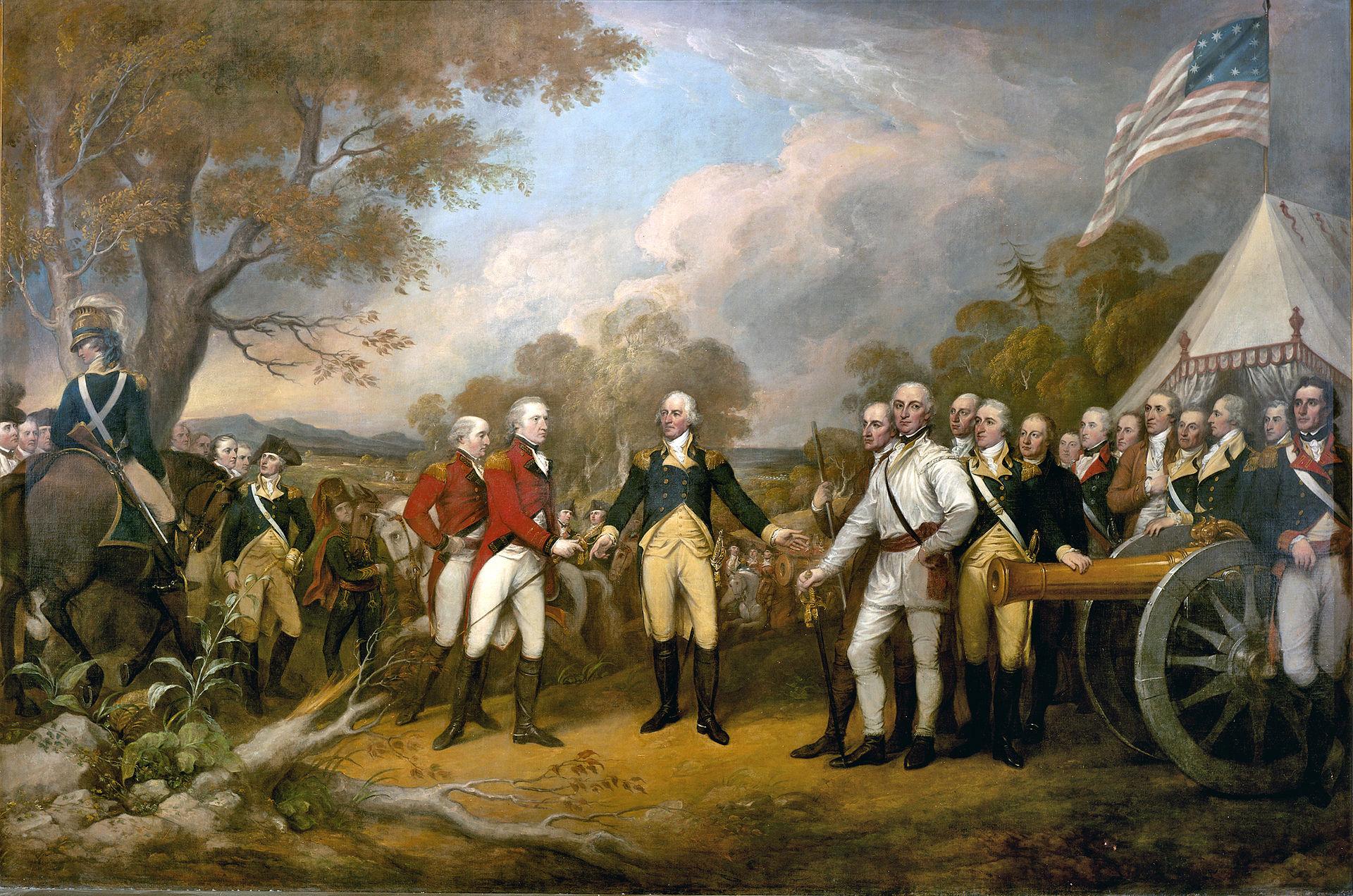 Surrender of General Burgoyne by Trumbull