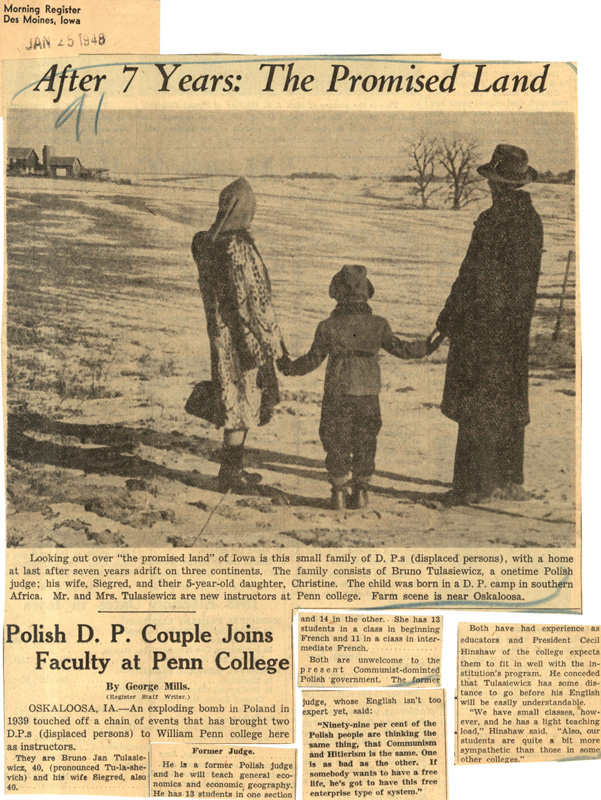 Talasiewicz Family Newspaper article